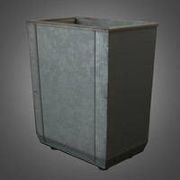 maya vintage metal trashcan ready