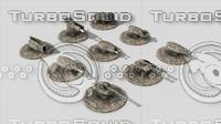 3d model turrets strategy games