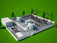 3d power station model