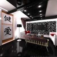 room interior modern 3d model