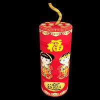 chinese firecracker 3d model