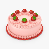 3ds max strawberry cake v2