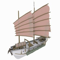 3d model of chinese boat