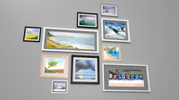 painted framed pictures 3d model