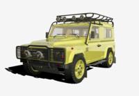 land rover defender 3d blend