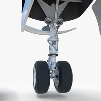 3d model airplane landing gear jet plane