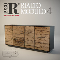 Wood sideboard of Venetian briccole oak Rialto MODULO 4 RIVA 1920