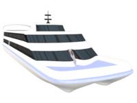 3d catamaran ferry model