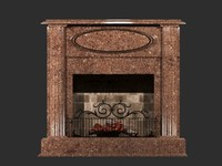 fireplace breccia 3d model