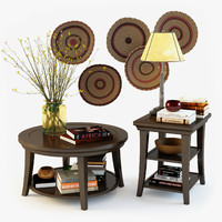 pottery barn decorative set 3d max