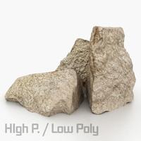 3d model granite polys