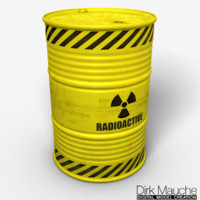 nuclear waste barrel