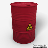 3d biohazard barrel model
