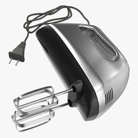 3d hand mixer chrome model