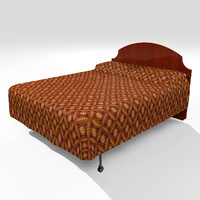3d model bed duvet cover