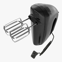 3d model hand mixer black