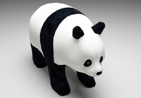 3ds max panda bear