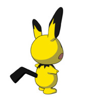 3d pichu pokemon model