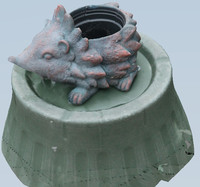 3d hedgehog plant pot polys model