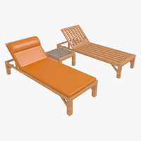 3d model of sunbed-1 outdoor