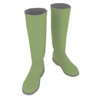 3d model rubber boots
