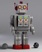 - vintage robot 3d max