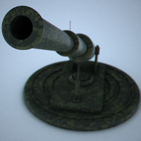 3d model army cannon