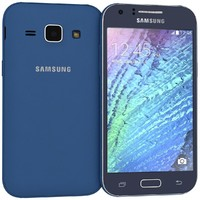 3d samsung galaxy j1 blue model