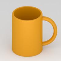 free simple mug 3d model