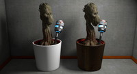 Plant with Face Creature Character