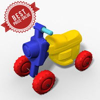plastic buggy 3d model