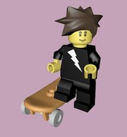 c4d lego skater character rigged