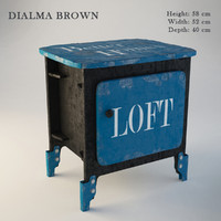 Dialma Brown Bedside cabinet DB002523