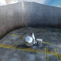 3d model of virtual exterior scene