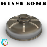 mines bomb 3d model