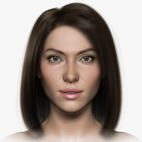 woman girl female 3d max