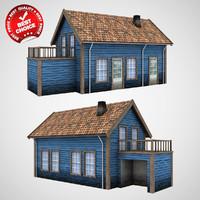 scandinavian house 3d model