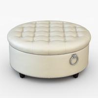 3d model pouf soft