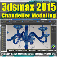 3ds max 2015 Chandelier Modeling vol. 48 CD front