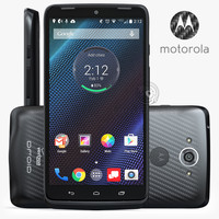 3d model motorola droid turbo black