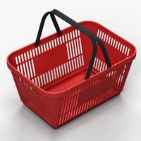 3dsmax plastic shopping basket