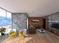 beach house 3d c4d
