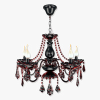 elegant 17 arm220-05-r chandelier 3d 3ds