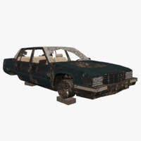 ready rusty car cadillac 3d 3ds