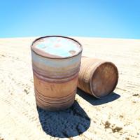 3ds max barrels desert props