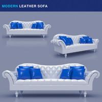 maya modern leather sofa