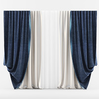 3d model curtain classic