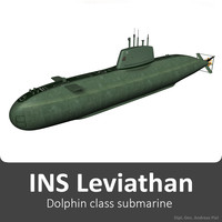 3d model ins leviathan class submarine