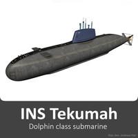 ins tekumah class submarine 3d model