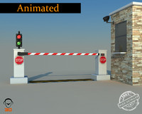 3d model road blocker